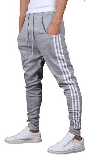 calça moleton skinny slim sport luxo