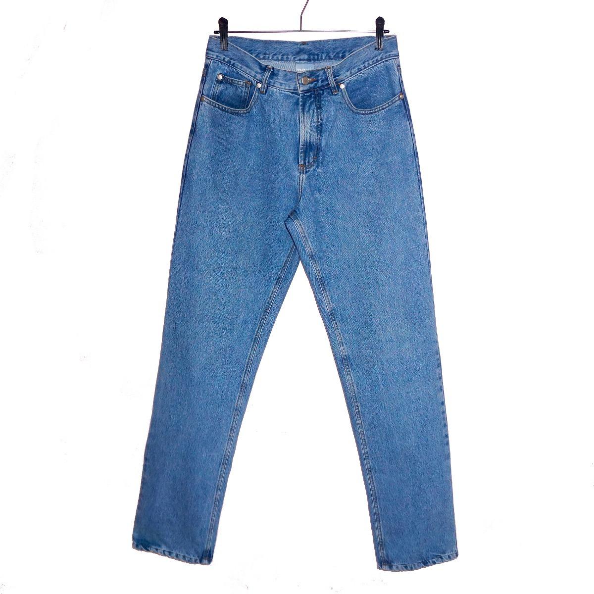 0877e063bc calça mom jeans vintage blue jeans cintura alta unisex. Carregando zoom.