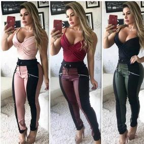 84a27c73c Barbada Calça Couro Ecológico Renner (tenho Colcci) - Calças Feminino Bordô  no Mercado Livre Brasil