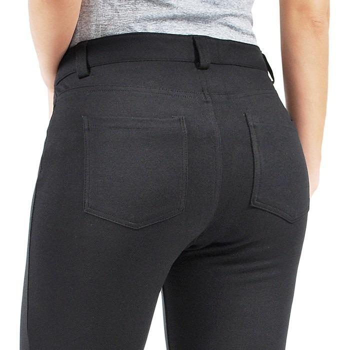 0a26ca517b83be Calça Montaria Skinny Cintura Alta 4 Bolsos Estilo Jeans