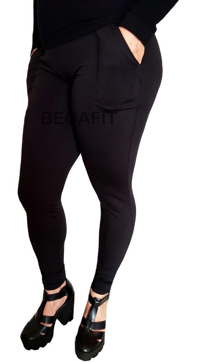 71153f9002c7f9 Calça Montaria Skinny Flanelada Térmica Feminina Legging Leg