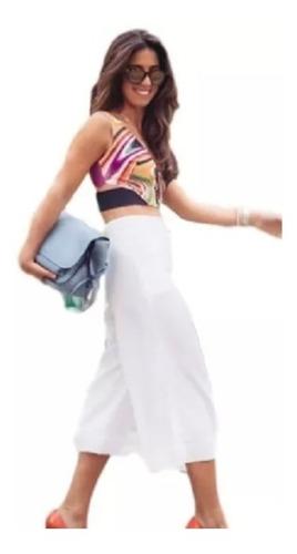calça pantacourt bermuda larga verão curta midi moda flare