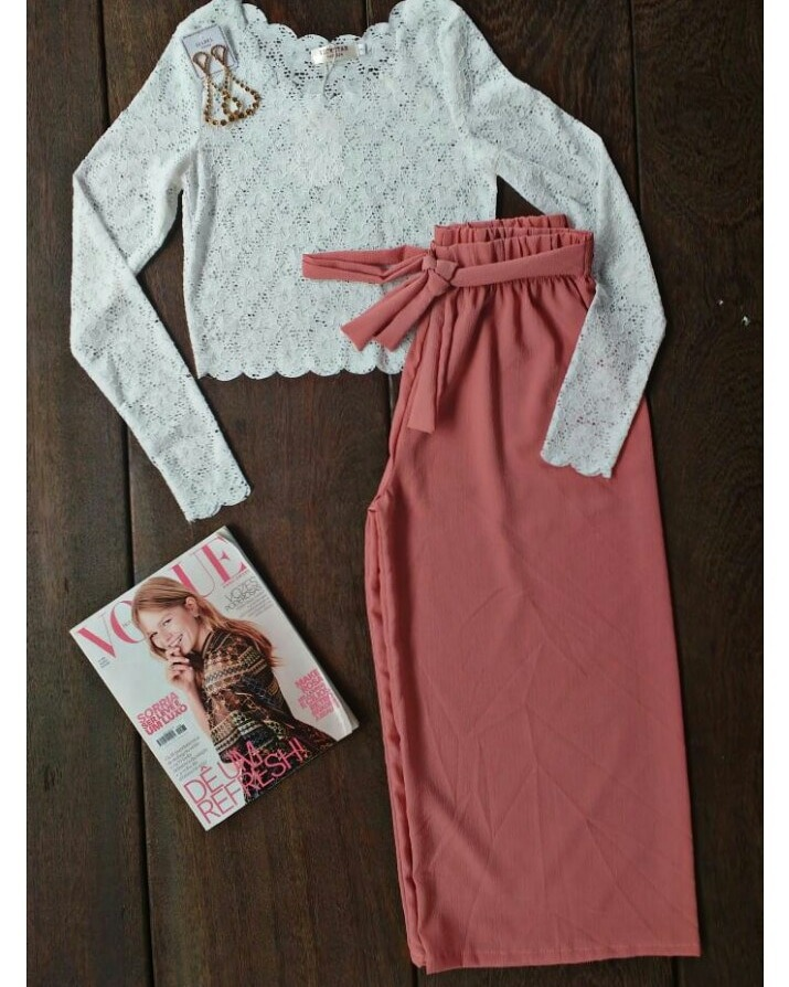 f19425d28 Calça Pantacourt Com Elástico Na Cintura - R$ 39,00 em Mercado Livre