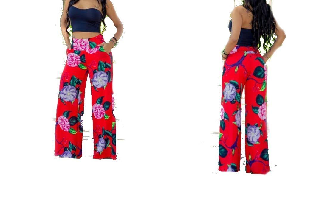 7e1bfd285 Calça Pantalona Estampada Em Viscose - R$ 85,00 em Mercado Livre