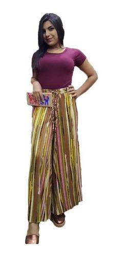 calça pantalona estampada indiana moda boho - cod. 4060
