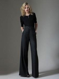 2a8e27533 Calça Pantalona Feminina Executiva Elegante Cinza Casimira - R$ 195 ...