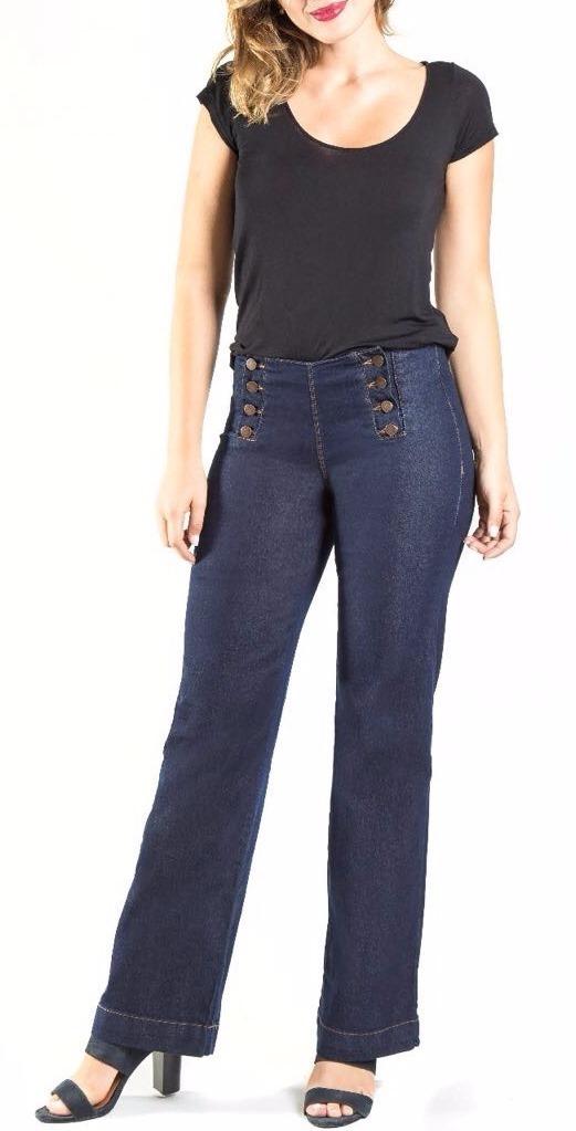 10facd2bd Calça Pantalona Jeans Feminina - R$ 89,00 em Mercado Livre