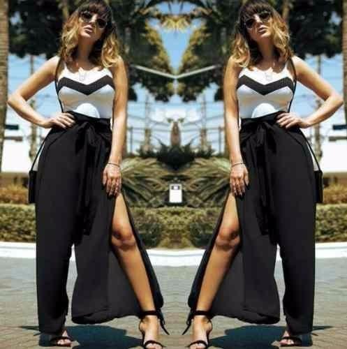 cc56c2439a Calça Pantalona Longa Moda Feminina - R  65