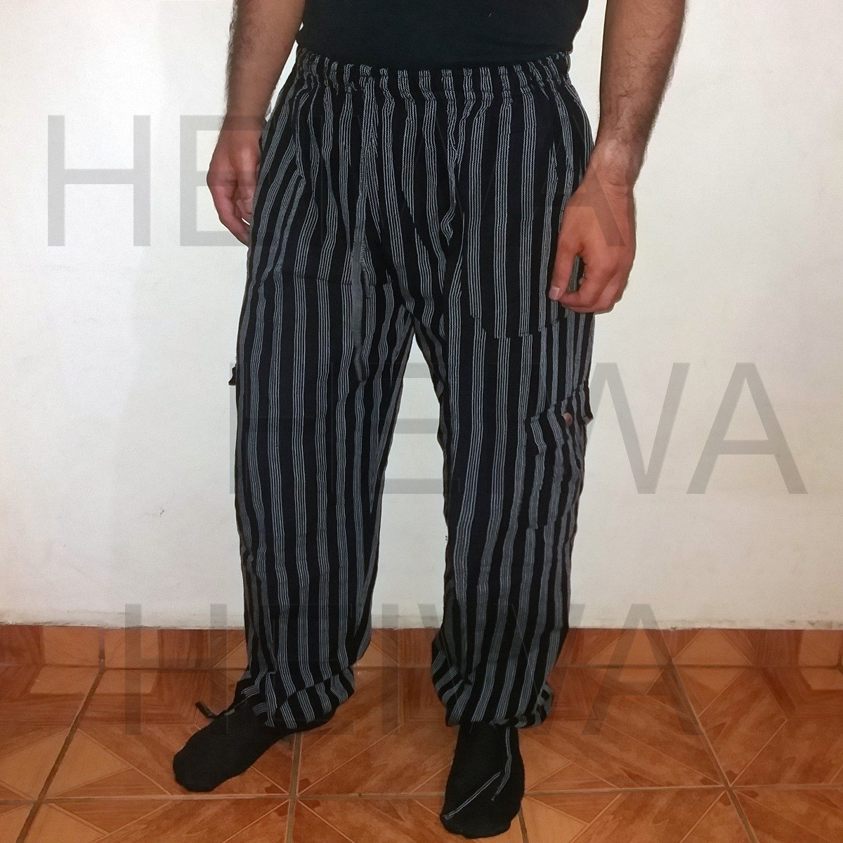dda33414852b20 Calça Pantalona Peruana Boliviana Andino Preto G 98cm