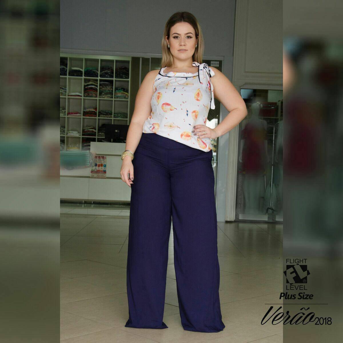 calça pantalona plus. Carregando zoom. 21662e1d187