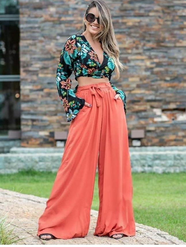 342f13c63 Calca Pantalona Tecido Viscose Lindas Cores - R$ 139,00 em Mercado Livre