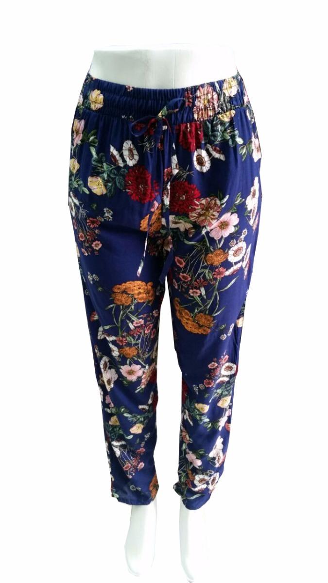 9362324d8 calça pijama viscose estampa floral com bolsos com elastico. Carregando  zoom.