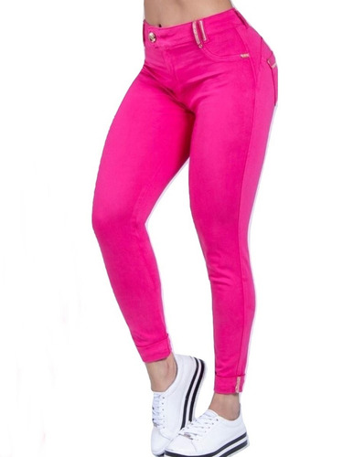 calça pitbull pit bull jeans feminina original 29501 rosa