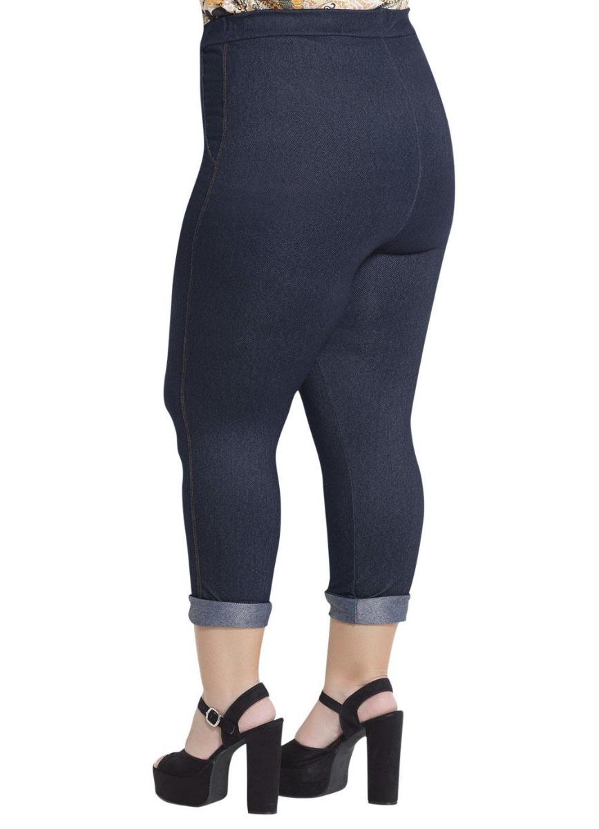1451567ba Calça Plus Size Cropped Azul Marguerite - R$ 108,89 em Mercado Livre