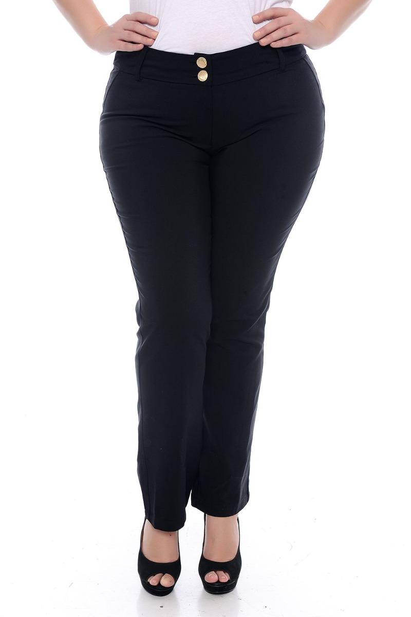 79bebbfa4 Calça Plus Size Social Alfaiataria Preta - R$ 99,99 em Mercado Livre