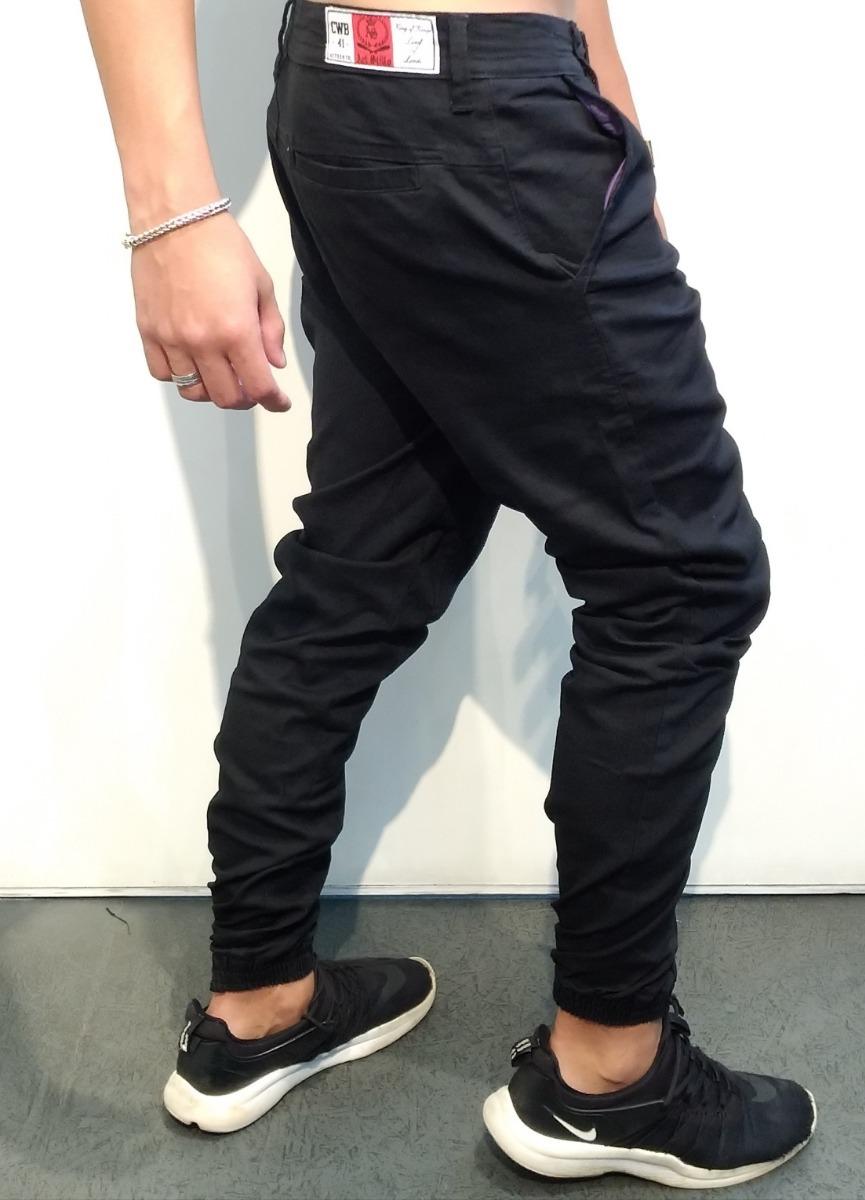 5430a2b94 calça preta jogger sarja. Carregando zoom.