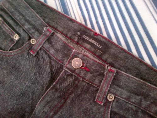 calça preta - luigi bertolli - 40