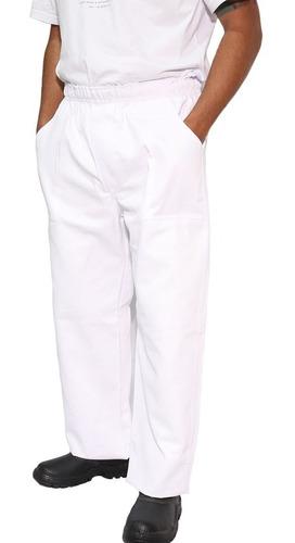 calça profissional  em oxford p/ padeiro (kit 10) branco