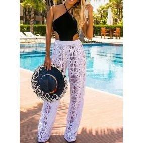 11a5b6999 Calca Pantalona Saida Praia Branca - Calçados, Roupas e Bolsas no ...