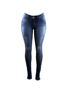 1019b9c16 Calça Jeans Com Ziper Na Barra Calcas - Calçados, Roupas e Bolsas no  Mercado Livre Brasil