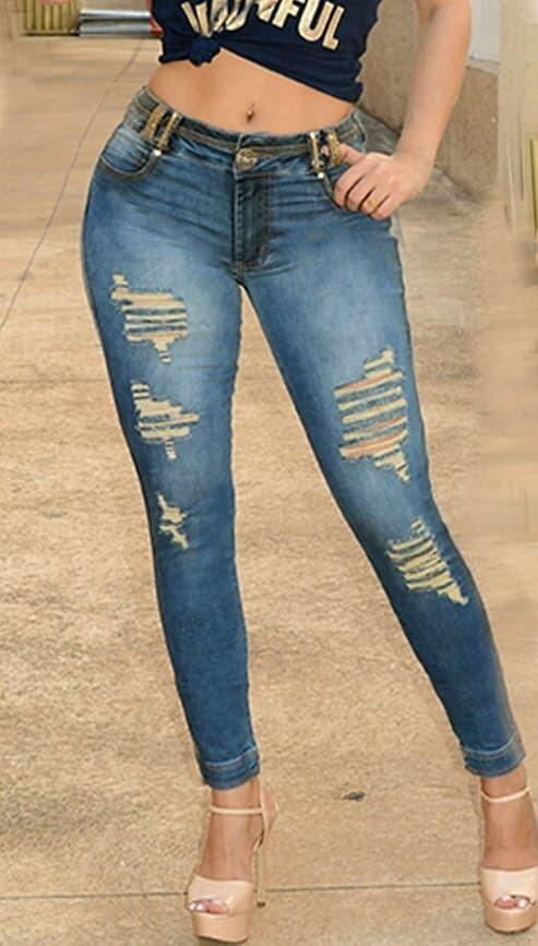 f8b4d3608 Calça Rhero Jeans Original Com Bojo Destroyed Rasgada - R$ 286,00 em ...