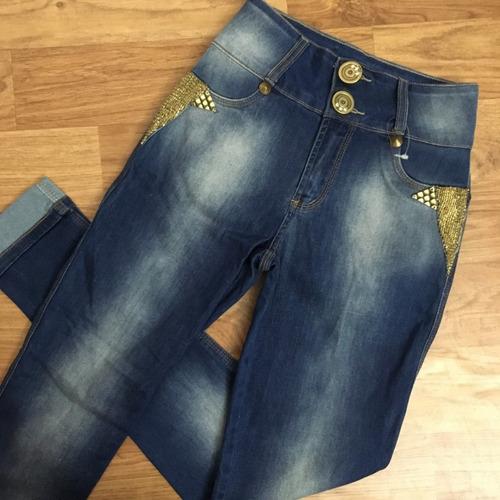 calça rhero jeans promoção bojo strass estilo pitbull lycra