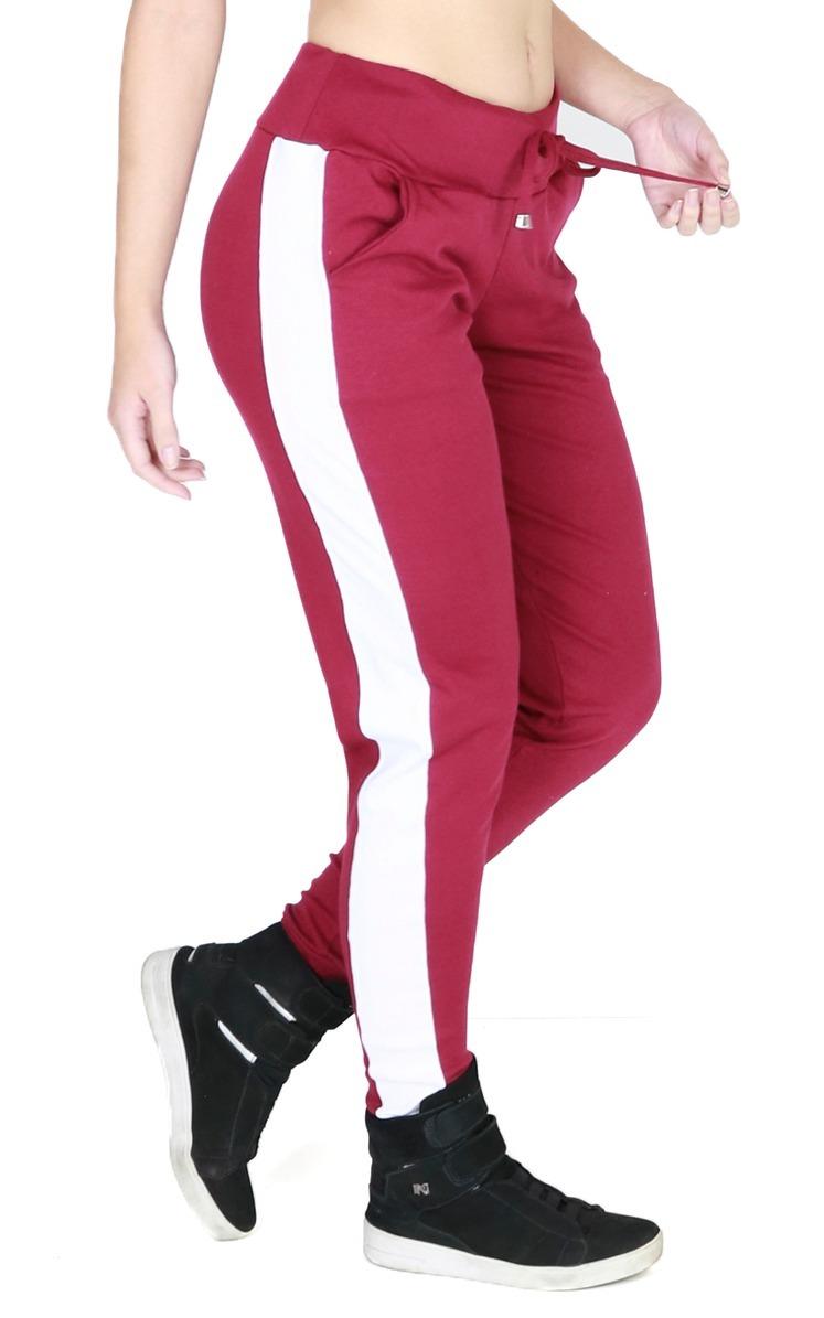 7fe4602b9 calça ribana feminina jogger listrada moletom inverno 024. Carregando zoom.