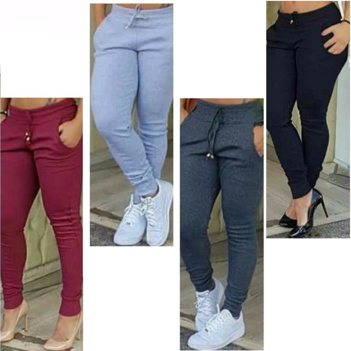 calça ribana feminina moda cintura alta moleton confortável. Carregando  zoom. 1ca3cbb885
