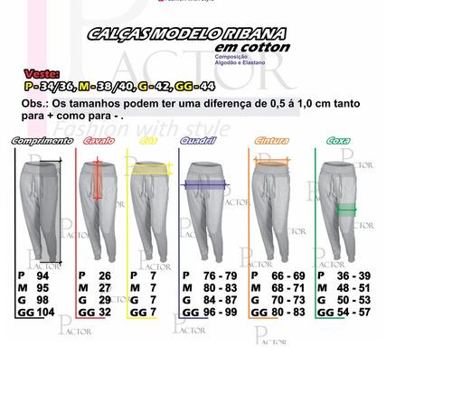 calça ribana moda feminina tecido  cotton aproveite ......