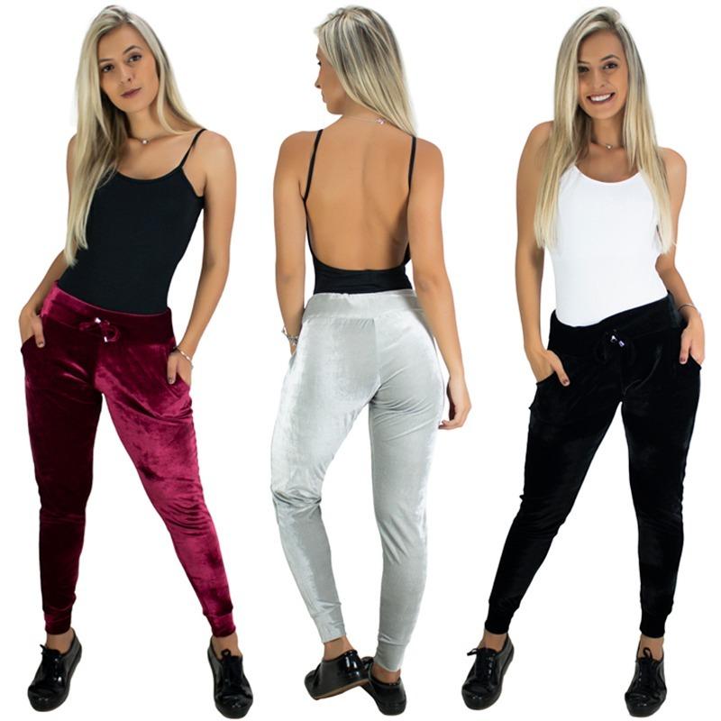 2418def85 calça ribana veludo feminina cintura alta moda inverno. Carregando zoom.
