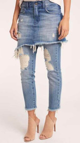 25855307ba Saia Jean Pitty Buy - Calças Jeans Feminino Azul no Mercado Livre Brasil