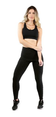 calça saia legging bolha fitness feminino academia 074