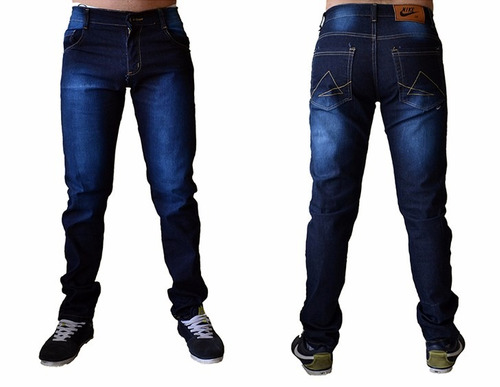 calça sarja  jeans masculina slim fit c/ lycra skinny marcas