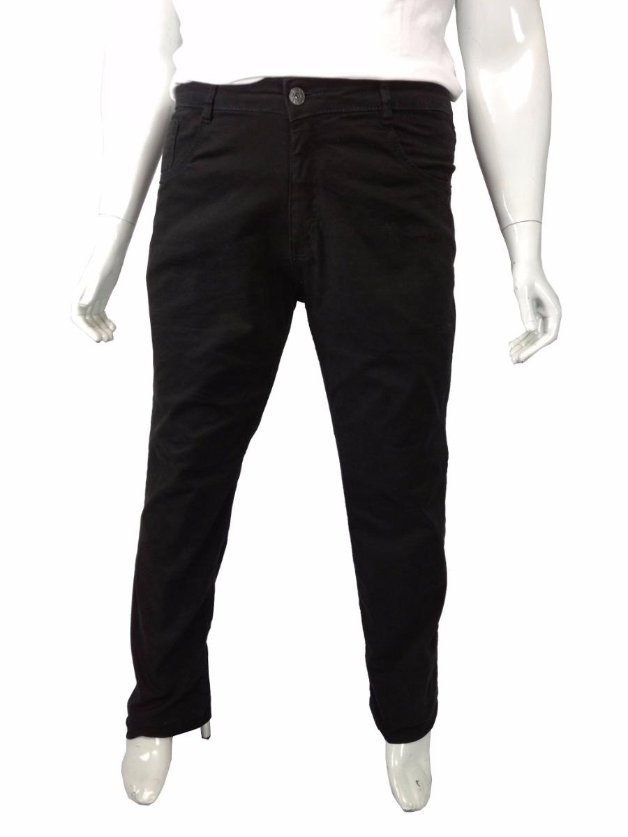 689ff5070b0a01 Calça Sarja Masculina Plus Size Com Lycra Tamanho Grande