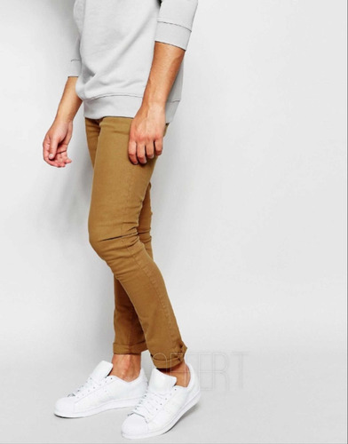 calça sarja premium masculina super skinny com lycra  offert