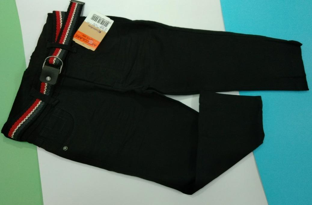 cafc840d4c calça sarja tamanho 2 infantil preta com cinto criança. Carregando zoom.