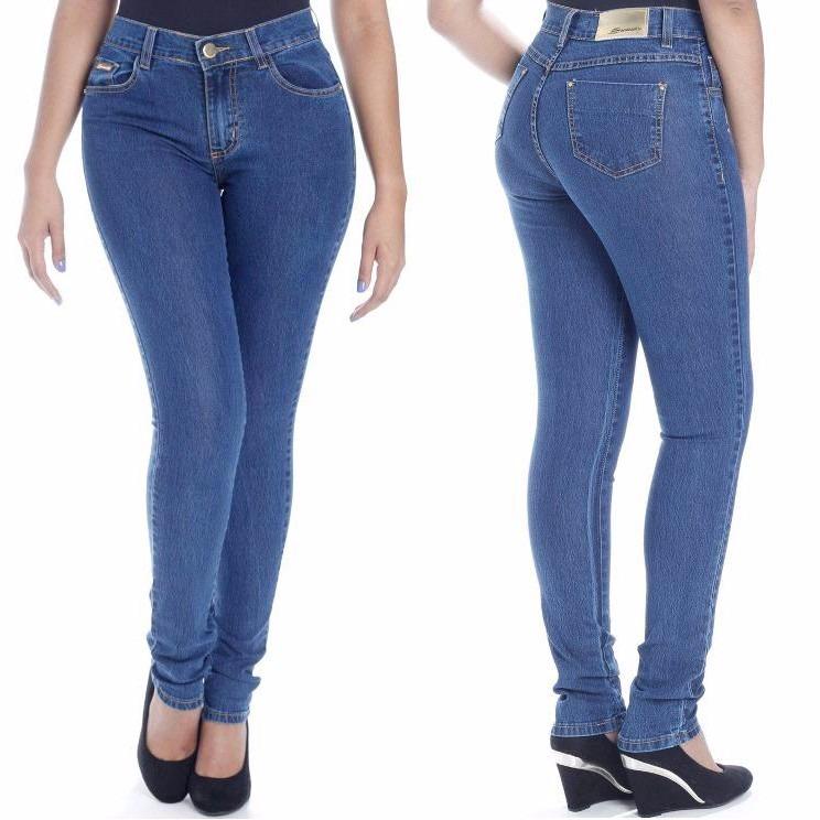 31b095fad Calça Sawary Jeans Cintura Alta Hot Pants Levanta Bumbum - R  121