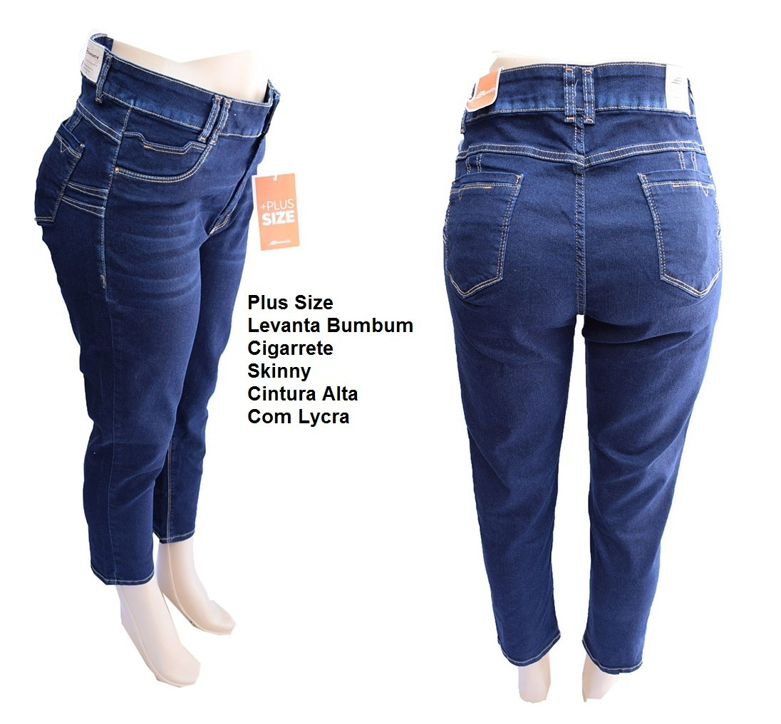 3d38eb61d4 calça sawary jeans plus size levanta bumbum c lycra - 258579. Carregando  zoom.