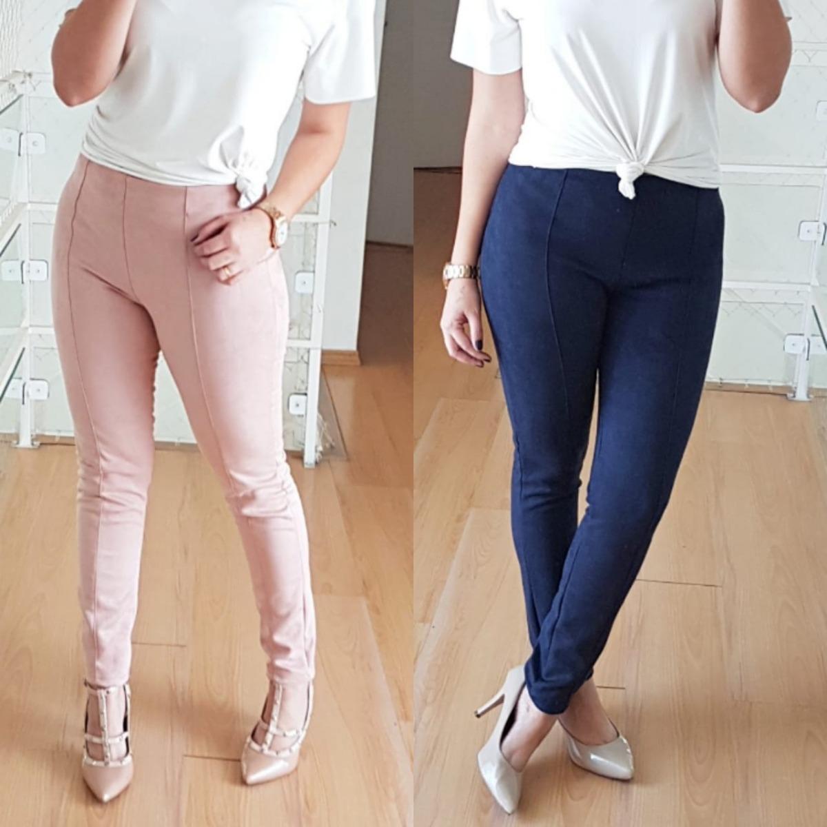 337c5db09 calça skinny feminina suede/camurça/veludo corte reto. Carregando zoom.