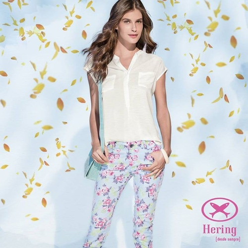 calça skinny floral hering!!