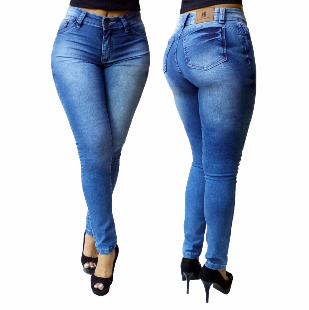 3c993ecf13 calça skinny jeans feminina cós alto. Carregando zoom.
