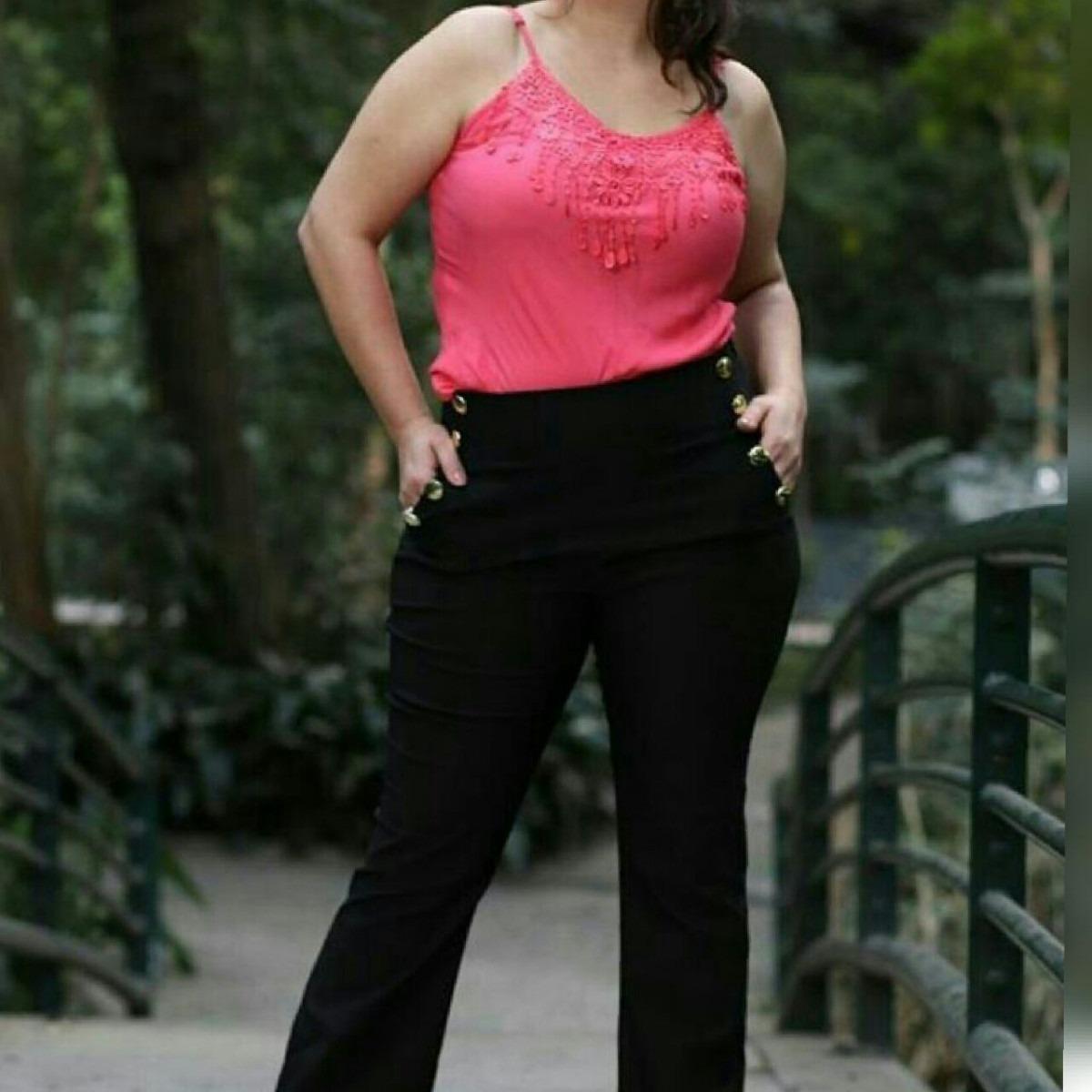 a5e1c2925 calça social feminina cintura alta plus size. Carregando zoom.