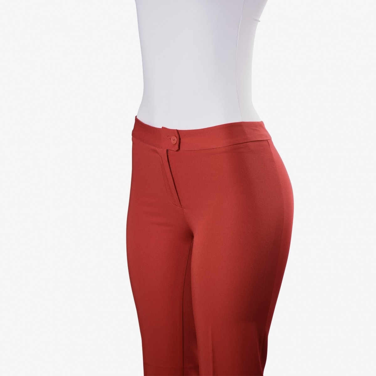 5f9a13e8d Calça Social Feminina Longa - Vermelha - R$ 54,90 em Mercado Livre