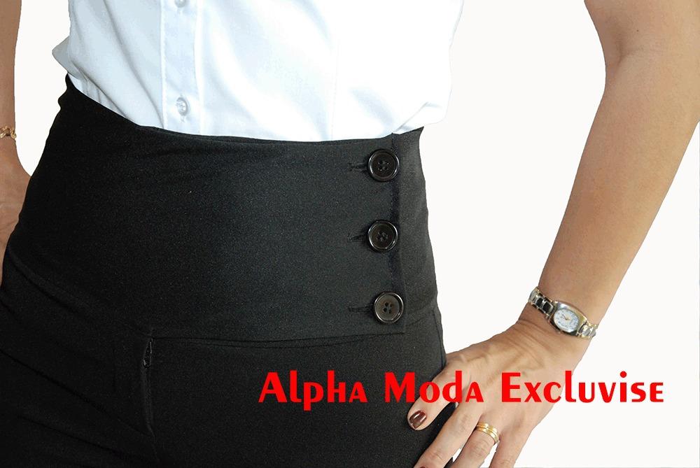 23f828b2b calça social feminina plus size feminina cintura alta. Carregando zoom.