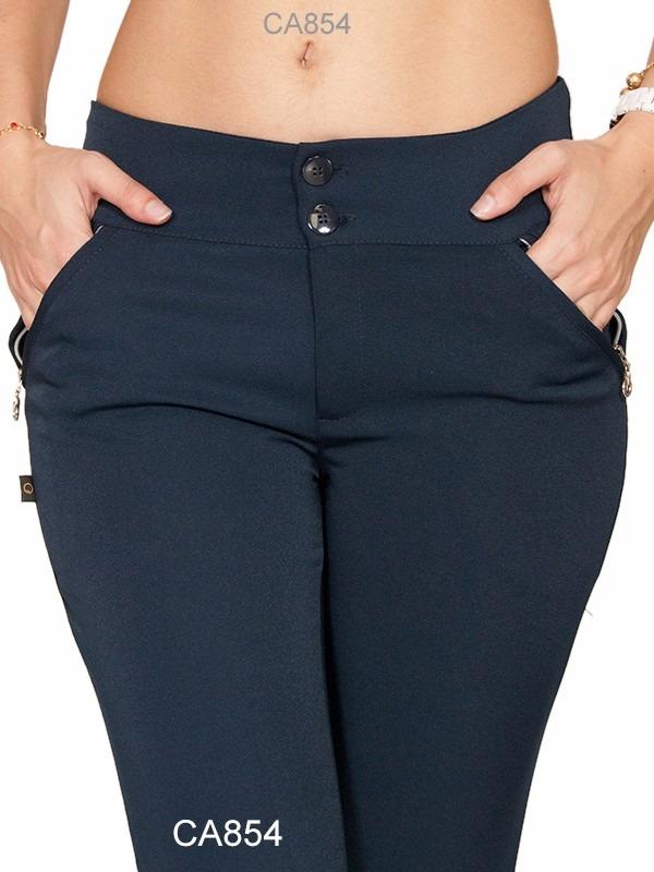 97e769941 calça social feminina tecido two way azul marinho skiny 719. Carregando  zoom.