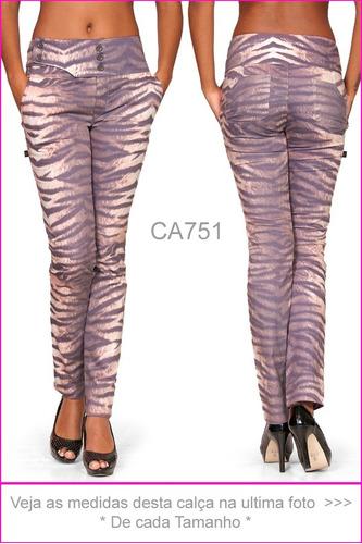 calça social tigre two way tenho oncinha onça hot pants  751