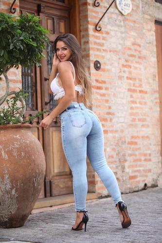 calça sol cigarrete hot pants rasgada com cinto e lycra azul