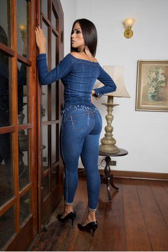 calça sol jeans cigarrete hot pants zíper lateral com lycra