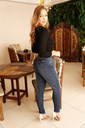 calça sol jeans mom boyfriend hot pants rasgada com lycra az