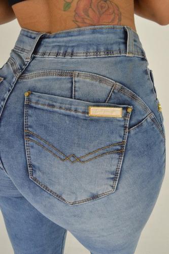 calça sol jeans skinny hot pants levanta bumbum com lycra az